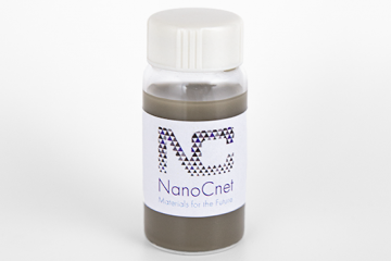 Bottle of Nano Silver strands in water