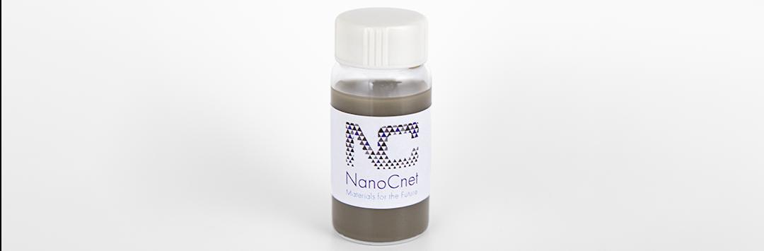 Bottle of Nano Silver strands in water